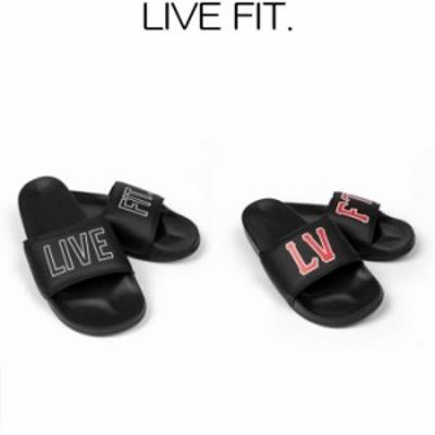 リブフィット LIVE FIT Outline Slides Varsity Slides スライダーサンダル スポーツ シャワーサンダル ビーチサンダル メンズ 筋トレ ジ