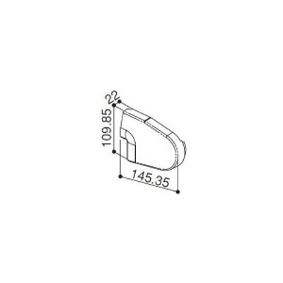【YKK AP メンテナンス部品】 前枠コーナーキャップF型用 (HH2K-31222)