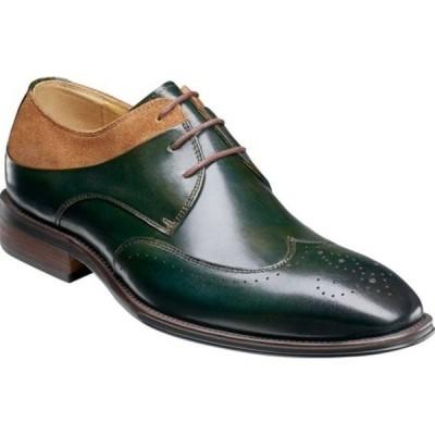 ステイシーアダムス ドレスシューズ シューズ メンズ Hewlett Wingtip Oxford (Men's) Olive/Tan Buffalo Leather
