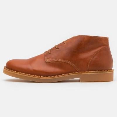メンズ 靴 シューズ SLHROYCE - Casual lace-ups - cognac