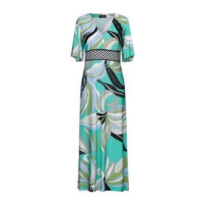 CLIPS ロングワンピース&ドレス グリーン M レーヨン 90% / ポリウレタン 10% ロングワンピース&ドレス