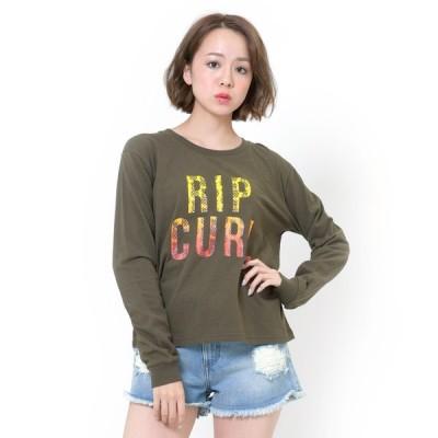 tシャツ Tシャツ 【RIP CURL / リップカール】レディースフロントロゴロングTシャツ  / 長袖