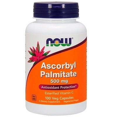 パルミチン酸アスコルビル、500 mg、植物性カプセル 100粒