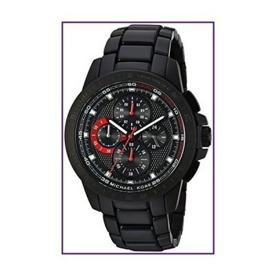 マイケル・コース ライカーIPクロノグラフ腕時計 43 mm ブラック【並行輸入品】
