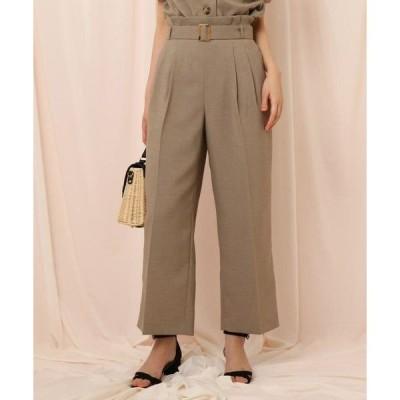 Couture Brooch / クチュールブローチ 【セットアップ可/WEB限定サイズ(LL)あり】リネンライクベルテッドワイドパンツ