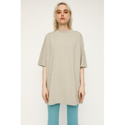 (SLY/スライ)NECK W OPEN OVERSIZE Tシャツ/レディース GRY