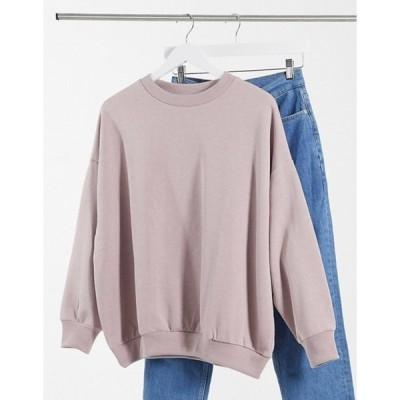 エイソス レディース シャツ トップス ASOS DESIGN oversized cozy cocoon sweatshirt in mink