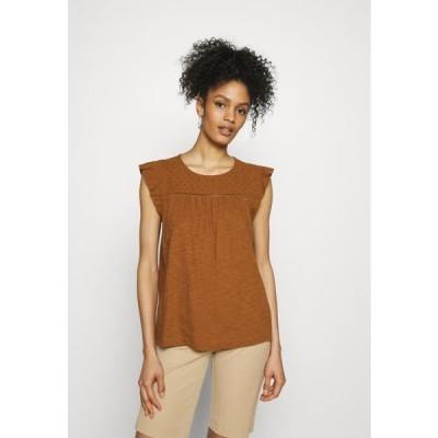 エスプリ レディース ファッション MIX - Print T-shirt - caramel
