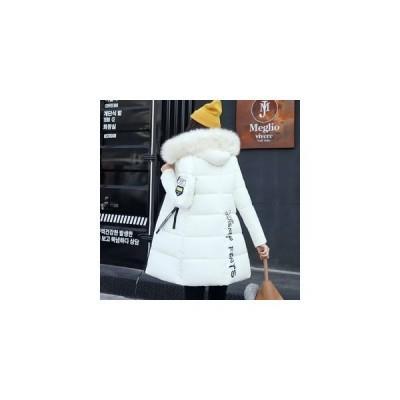 ダウンコート レディース ダウンジャケット アウター ロング丈 フード付き ファー 冬新作 カジュアル コート 防寒対策