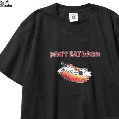 ソフトマシーン SOFTMACHINE NOT HOTDOG-T (BLACK) メンズ 半袖Tシャツ ブラック