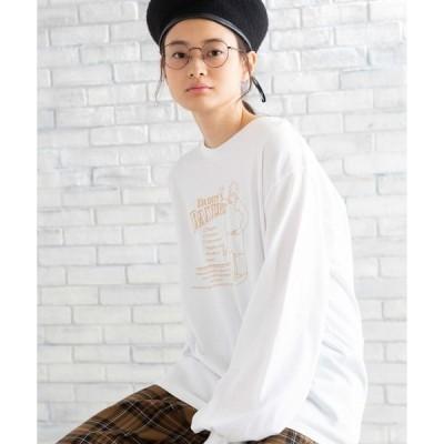 tシャツ Tシャツ WEGO/ビッグシルエットプリントボリュームロンT