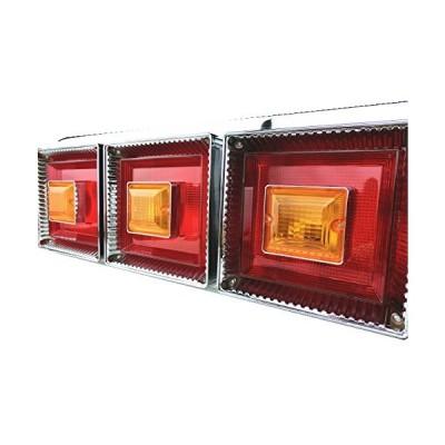 Officek 24V 3連 角型 赤黄 ハロゲンテール 左右セット 3連テール