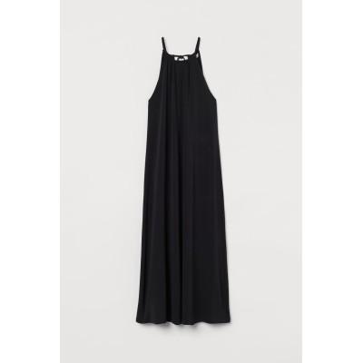 H&M - ジャージーロングワンピース - ブラック
