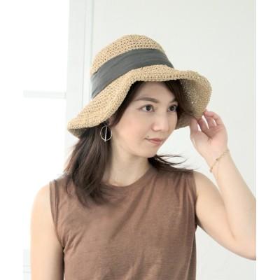 SOROTTO / 手編みリボン付ペーパーハット WOMEN 帽子 > ハット