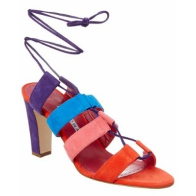 Manolo Blahnik マノロブラニク ファッション サンダル Manolo Blahnik Aulus 90 Suede Ankle Wrap Sandal