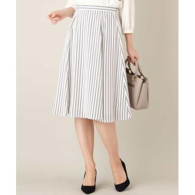 MK MICHEL KLEIN homme / 【洗濯機で洗える】ストライプ柄フレアースカート WOMEN スカート > スカート