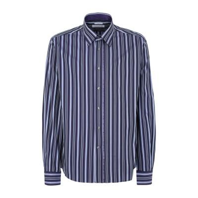 VERSACE シャツ ダークパープル 37 コットン 100% シャツ