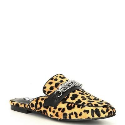 スティーブ マデン レディース サンダル シューズ Kalista Leopard Print Loafer Slides