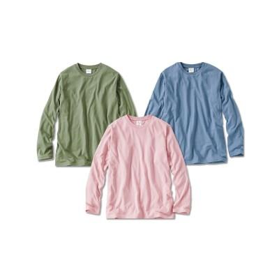 長袖無地Tシャツ3枚組 Tシャツ・カットソー, T-shirts,
