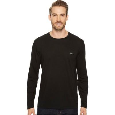 ラコステ Lacoste メンズ 長袖Tシャツ トップス Long Sleeve Pima Jersey Crew Neck T-Shirt Black