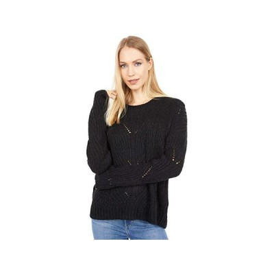 Madewell Fawn Pointelle Pullover Sweater レディース セーター Heather Soot