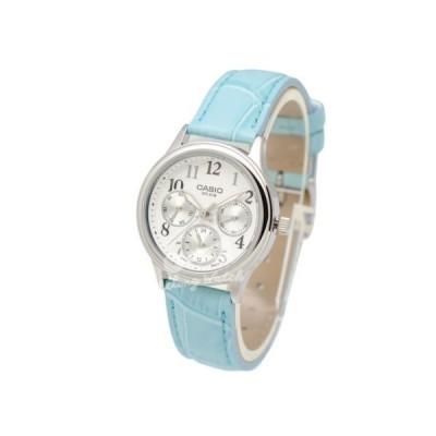 レディース 腕時計 カシオ Casio LTPE306L-7B Ladies' Leather Fashion Watch Brand New & 100% Authentic