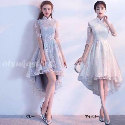 星柄ドレス グレードレス アイボリードレス 結婚式パーティードレス 成人式ドレス ドレス フィッシュテール パーティードレス サイズ指定可