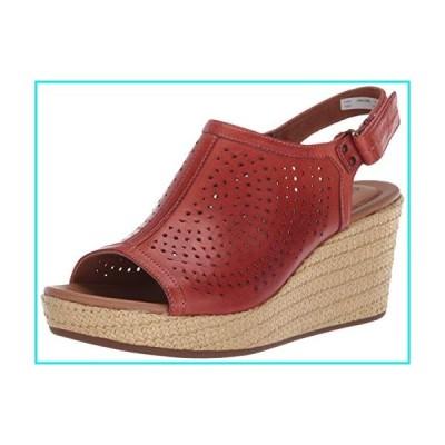 Cobb Hill womens Erika Slingback Wedge Sandal, Russet Red, 6.5 Wide US【並行輸入品】