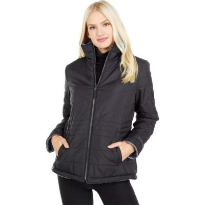 フリーカントリー Free Country レディース ダウン・中綿ジャケット アウター Reversible Jacket to Heather Butter Pile Black/Mineral Grey