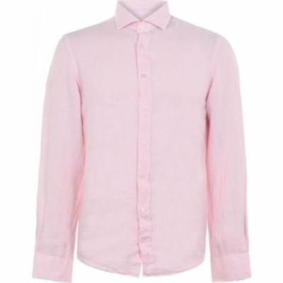 ハケット Hackett メンズ シャツ トップス Linen Shirt Soft Pink