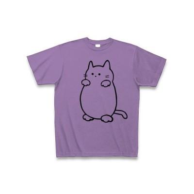 お化け猫 Tシャツ(ライトパープル)