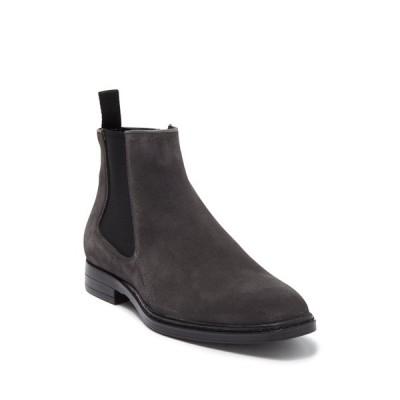 カールラガーフェルド メンズ ブーツ&レインブーツ シューズ Side Zip Chelsea Boot GREY