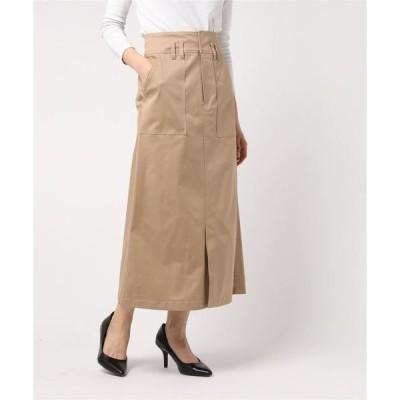 スカート ハイウエストチノタイトスカート