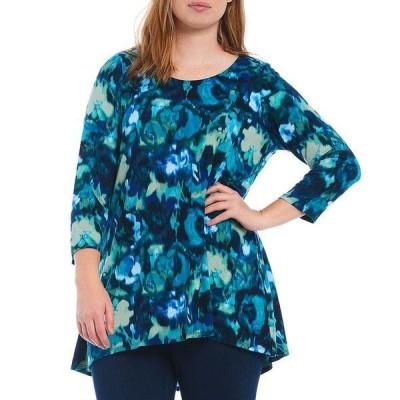 イントロ レディース Tシャツ  Capri Breeze Blurred Floral Print