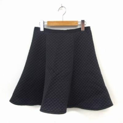 【中古】グリーンレーベルリラクシング ユナイテッドアローズ green label relaxing スカート フレア 38 ブラック