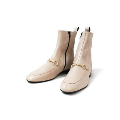 ground green store / FABIO RUSCONI / F-5001 / ビットスクエアトゥショートブーツ WOMEN シューズ > ブーツ