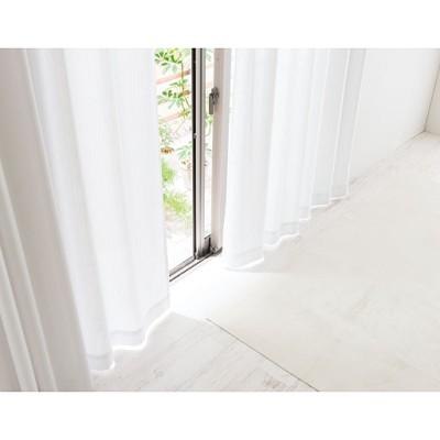レースカーテン(UVカット率99%のUVプロテクトカットタイプ・遮熱・目隠し)/ホワイト/幅100×丈88cm(2枚組)