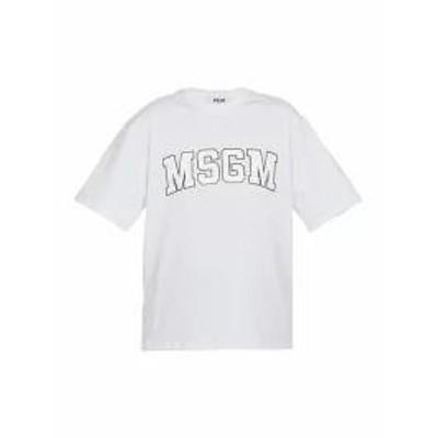 MSGM レディースその他 MSGM Cotton T-shirt WHITE