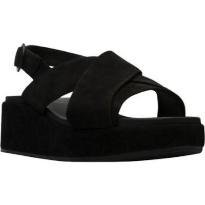 カンペール Camper レディース サンダル・ミュール シューズ・靴 Misia X Strap Platform Slingback Sandal Black Calfskin/Nubuck