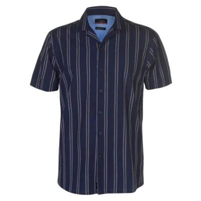 ピエールカルダン シャツ メンズ トップス Reverse Stripe Shirt Mens
