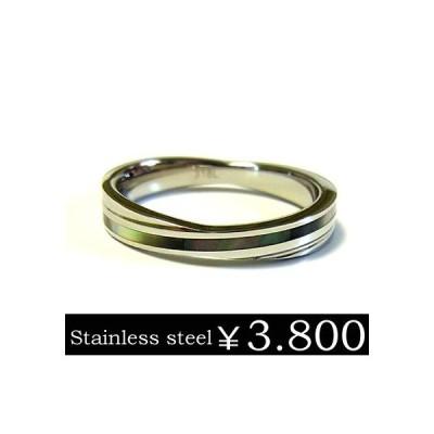 福袋対象商品 リング 指輪 メンズ ステンレス シェル ブラック 刻印 ユニセックス ペア ju8 半額 sale