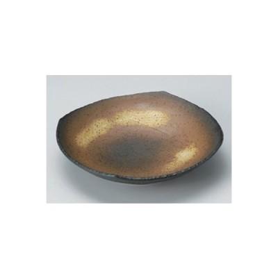 和食器 / 盛鉢 中 黒備前つゆ草8.0浅鉢 寸法:24 x 24 x 5.5cm