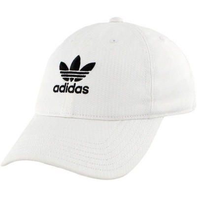 アディダス 帽子 アクセサリー レディース adidas Originals Women's Relaxed Strapback Hat White