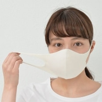 シルク&Ag 3D立体 高級マスク【オフホワイト×2】