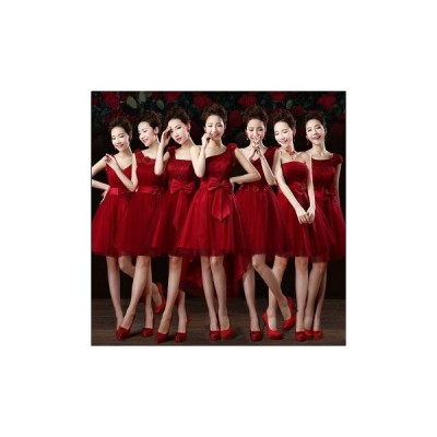 パーティードレス ワンピース イブニングドレス ミニ丈 ショートドレス 発表会 二次会 結婚式 演奏会 安い