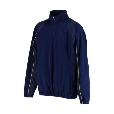 ゼット(ZETT) メンズ 野球 長袖中綿ハーフジップジャンパー ネイビー BOV460 2900 ジャケット アウター 防寒 ウェア