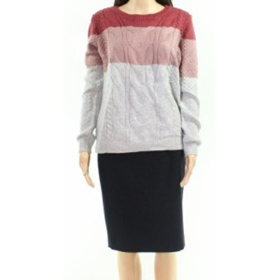 Pink Rose ピンクローズ ファッション トップス Pink Rose Pink Size Large L Junior Colorblock Cable Knitted Sweater