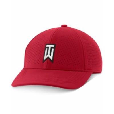 ナイキ メンズ 帽子 アクセサリー Men's AeroBill Tiger Woods Heritage86 Perforated Golf Hat Red