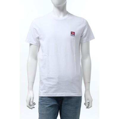 ディーゼル DIESEL Tシャツ 半袖 丸首 クルーネック T-DIEGO-DIV MAGLIETTA メンズ 00SZ7W 0PATI ホワイト