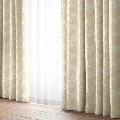 厚地カーテン コベルト ベージュ(1枚) 巾100cm×丈105cm
